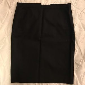 J Crew Black Pencil Skirt Size 4